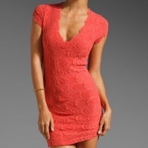 Deep V Mariposa Lace Dress - Nightcap